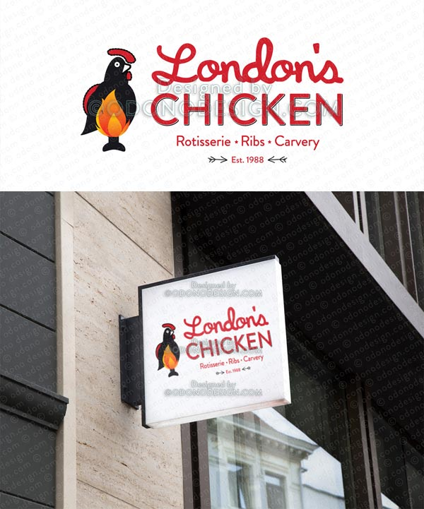 London's Chicken Vito Ace Digital Logo